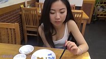 Once a hot Taiwan girl with foreign boyfriend domestic restaurant for dinner