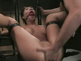 Brunette Beautifull Chinese Girl Tied